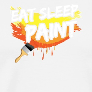 EAT SLEEP PAINT TEE SHIRT - Men's Premium T-Shirt
