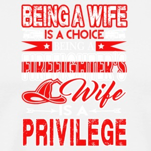 FIREFIGHTER'S WIFE TEE SHIRT - Men's Premium T-Shirt