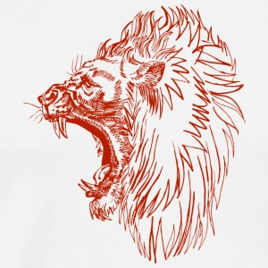 screaming_angry_lion_red - Men's Premium T-Shirt