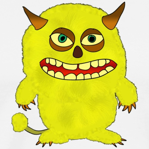 Plushy Yellow Monster Isle - Men's Premium T-Shirt