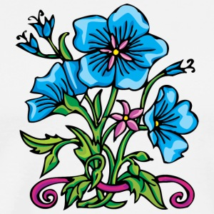 3_big_blue_flowers - Men's Premium T-Shirt