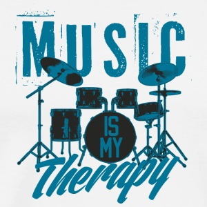 Drums rock music therapy inscription cool art - Men's Premium T-Shirt