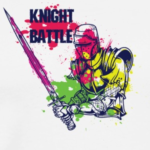 KNIGHT BATTLE COLORFUL - Men's Premium T-Shirt