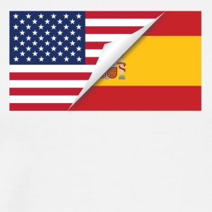 Half American Half Spanish Flag - Men's Premium T-Shirt
