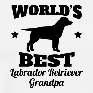 World's Best Labrador Retriever Grandpa - Men's Premium T-Shirt