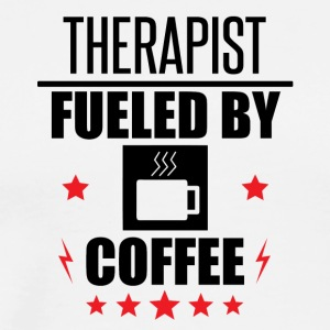 Therapist Fueled By Coffee - Men's Premium T-Shirt