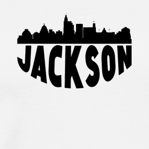 Jackson MS Cityscape Skyline - Men's Premium T-Shirt
