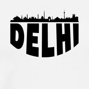 Delhi India Cityscape Skyline - Men's Premium T-Shirt