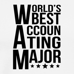 World's Best Accounting Major - Men's Premium T-Shirt
