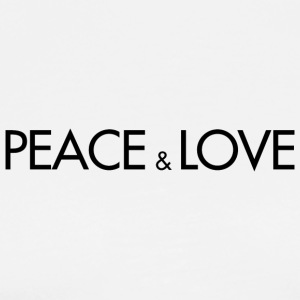 Peace And Love - DG Design (Black Letters) - Men's Premium T-Shirt