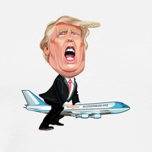 TRUMP FLIES PRESIDENTIAL JET ILLEGITIMATE-ONE - Men's Premium T-Shirt