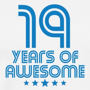 19 Years Of Awesome 19th Birthday - Men's Premium T-Shirt