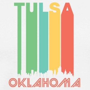 Retro Tulsa Skyline - Men's Premium T-Shirt