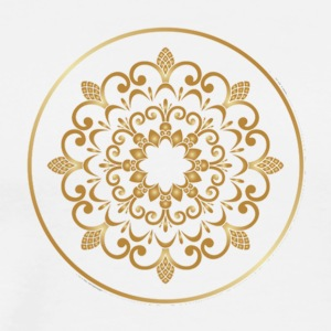 Plates with golden floral ornaments vector 04 - Men's Premium T-Shirt