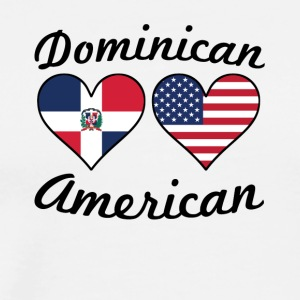 Dominican American Flag Hearts - Men's Premium T-Shirt