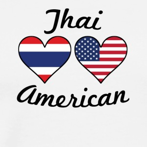 Thai American Flag Hearts - Men's Premium T-Shirt