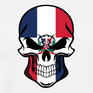 Dominican Flag Skull - Men's Premium T-Shirt