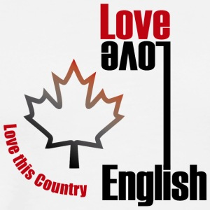 Love English, love Canada - Men's Premium T-Shirt