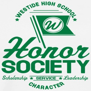WESTSIDE HIGH SCHOOL W Honor Society Scholarship S - Men's Premium T-Shirt