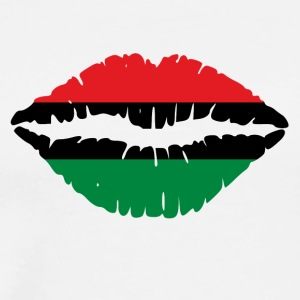 Pan American African Heritage Flag colors Lips - Men's Premium T-Shirt