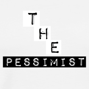 The Pessimist Abstract Design - Men's Premium T-Shirt