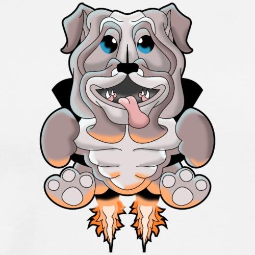 Jetpack bulldog - Men's Premium T-Shirt