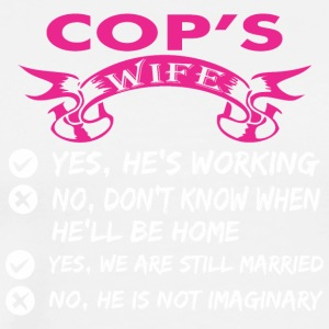 Cops Wife Yes Hes Working - Men's Premium T-Shirt