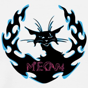 MEOW_BLACK_BLUE_CAT - Men's Premium T-Shirt