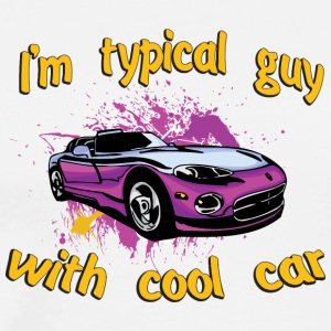 I_am_Typical_guy_with_cool_cabriolet_car - Men's Premium T-Shirt
