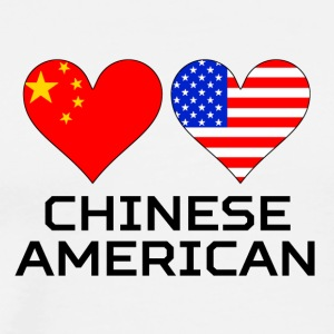 Chinese American Hearts - Men's Premium T-Shirt
