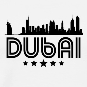 Retro Dubai Skyline - Men's Premium T-Shirt