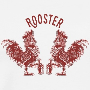Roosters bird inscription emblem beer - Men's Premium T-Shirt