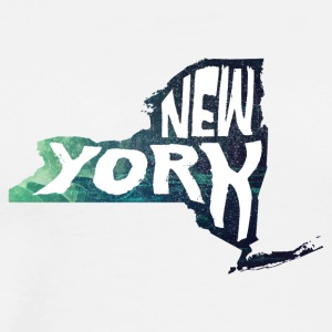 A New York State of Outline - Men's Premium T-Shirt