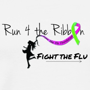 RUN 4 THE RIBBON FIGHT THE FLU - Men's Premium T-Shirt