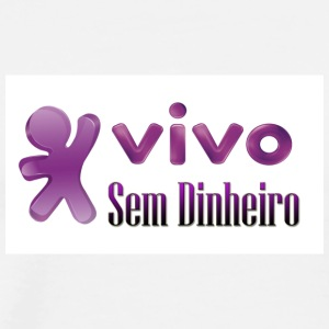 VIVO SEM DINEIRO - Men's Premium T-Shirt