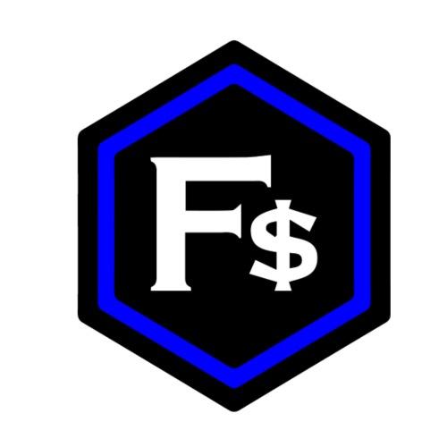 F$ - Blue - Men's Premium T-Shirt