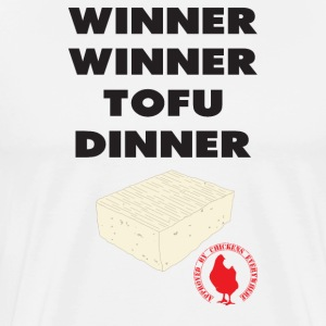 Winner Winner Tofu Dinner - Men's Premium T-Shirt