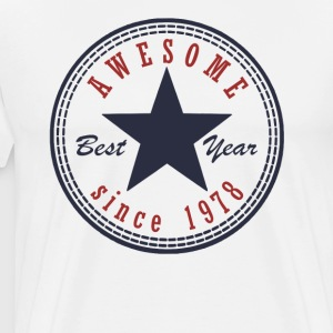 39th Birthday Awesome since T Shirt Made in 1978 - Men's Premium T-Shirt