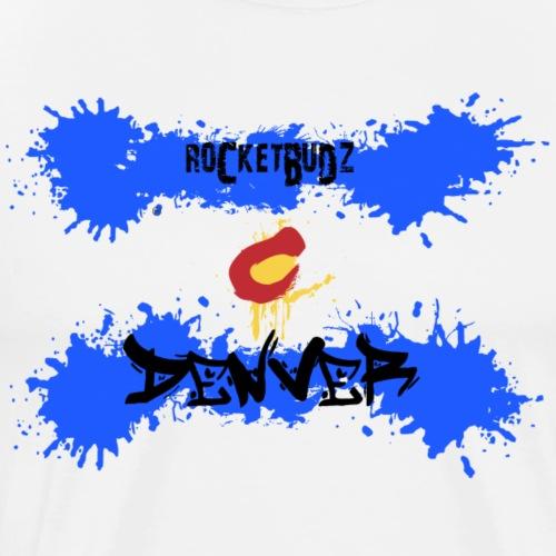 RocketBudz Denver Colorado Flag - Men's Premium T-Shirt
