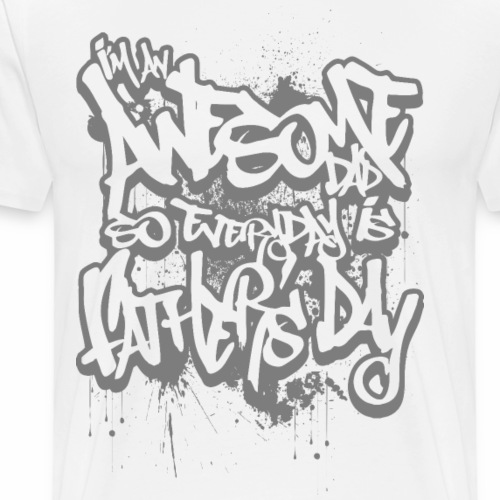 Awesome Dad-Father's Day- gray print - Men's Premium T-Shirt