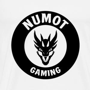 Numot Gaming Logo - Black on White - Men's Premium T-Shirt