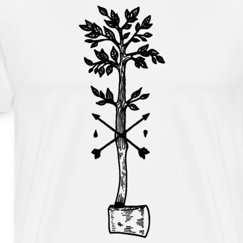 Tree axe forest worker - Men's Premium T-Shirt