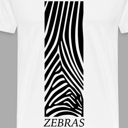 Zebras - Men's Premium T-Shirt