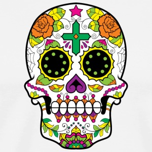 sugar_skull_with_cross - Men's Premium T-Shirt