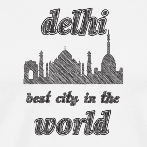 DELHI Best city in the world - Men's Premium T-Shirt