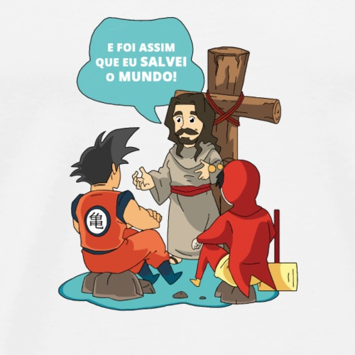 E foi assim que Eu salvei o mundo! - Men's Premium T-Shirt