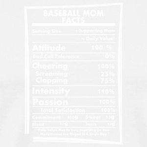 Baseball Mom Facts Daily Values May Be Vary - Men's Premium T-Shirt