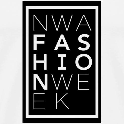 Northwest Arkansas Fashion Week Logo in Black - Men's Premium T-Shirt