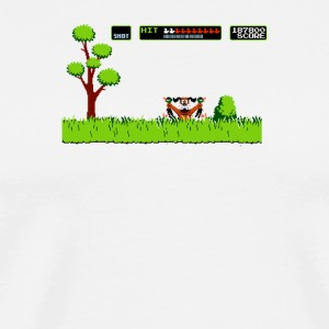 NES duck hunt dog game - Men's Premium T-Shirt
