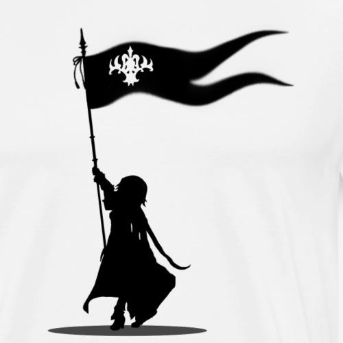 Jeanne d'arc god is here with me - black logo - Men's Premium T-Shirt